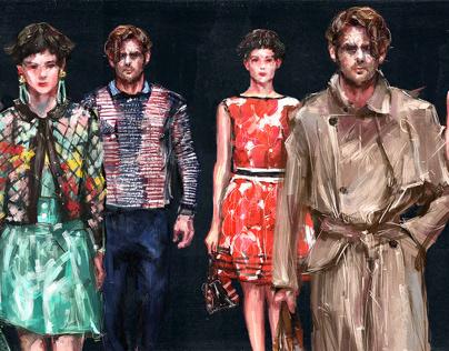 Fashion Illustration for Giorgio Armani 2018