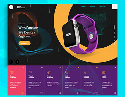 Product Object Design Adobe XD Template