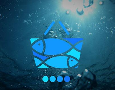 Animate Fish Style Handbag Graphics Design.