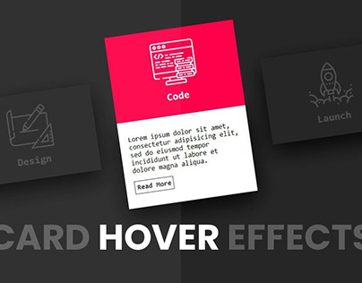 3D Animated hover Cards
