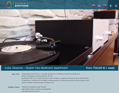 Property Emotions landing page