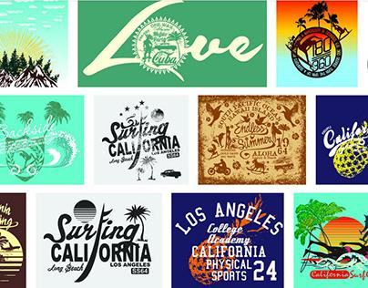 Summer and holiday vector art