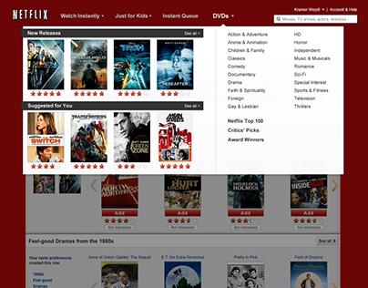 Netflix Hover Menu Designs