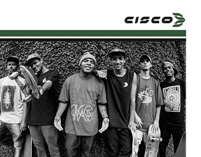 Advertising of Cisco Skateboarding clothing 2014 Brazil