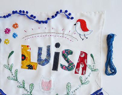 my name is luisa | bordado