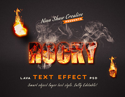 Lava Text Effects