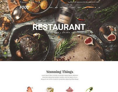 Home - Food WordPress Theme