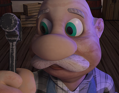 """""""The Woodworker"""" 3D Animation"""