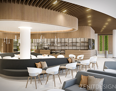 Interior design for a modern coffee shop