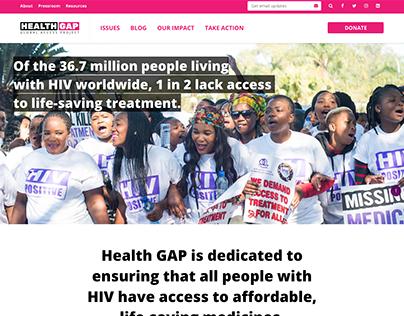 HealthGap Website Development