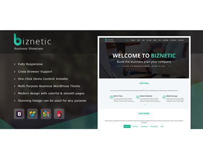 Biznetic WordPress Theme
