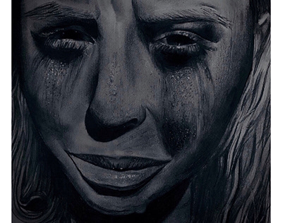 Chalk and charcoal (with pencil detailing)