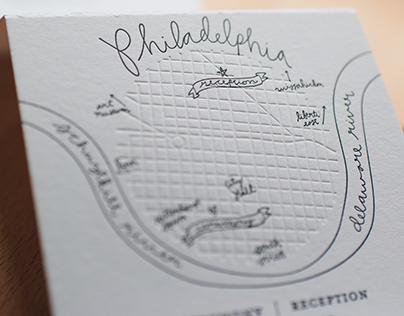 Print Design // Accordion Wedding Invitations