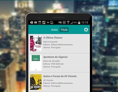 Interface e UX para aplicativo de leitura