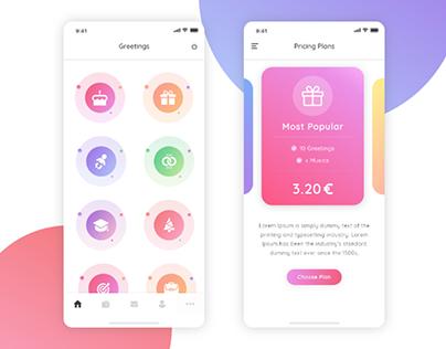 Freebie XD Colorful App Dashboard