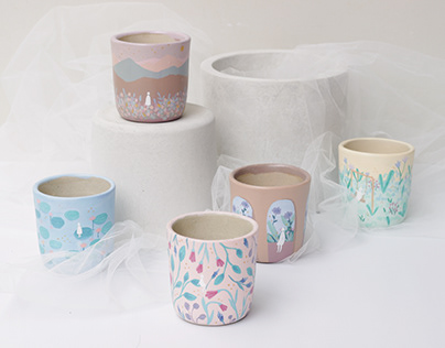 Puan Tualang Hand-Painted Ceramic Cups