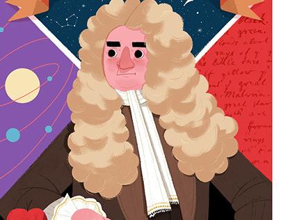 Fun Facts About Newton / Children Magazine Illustration