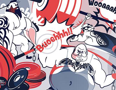 Crazy Barbells illustrations