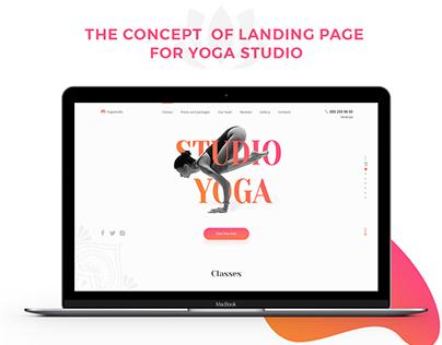 Yoga studio landing page