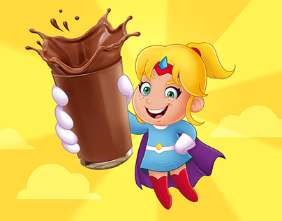 Illustration for Chocolate Powder Package