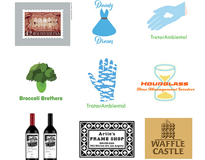 Examples of logos and graphics for branding