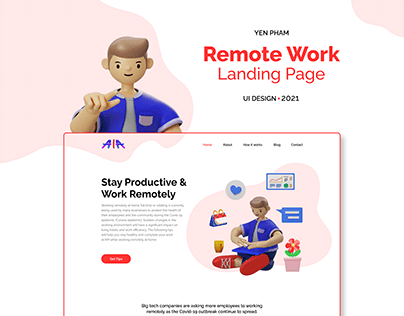 AIA - Remote Work Landing Page