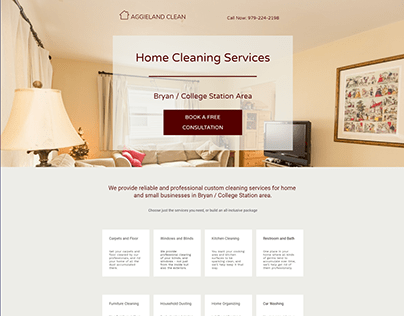 Landing Page for Home Cleaning Service