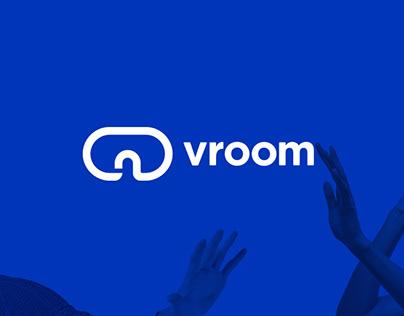 vroom Online VR Store Logo Design