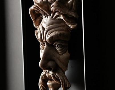 Zeus Deficio - Framed Wall Sculpture