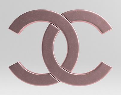 Chanel Cast Metal Label 3D Model