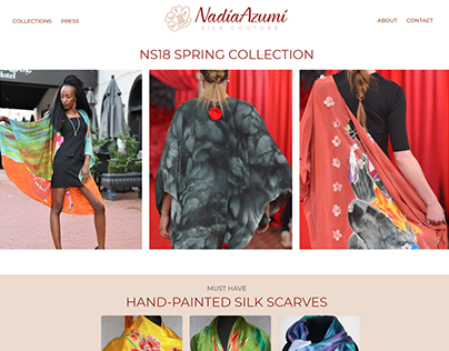 Nadia Azumi Silk Couture Website