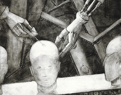 Illustrations for Orwell's 'Nineteen Eighty-Four'