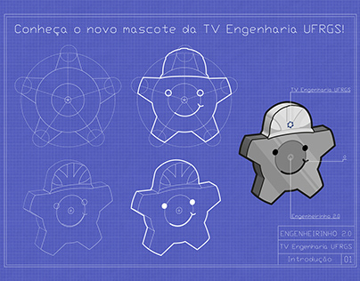 Redesign do mascote da TV Engenharia UFRGS