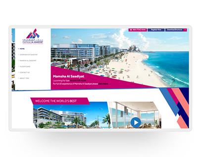 Mamsha Al Saadiyat - Website Design