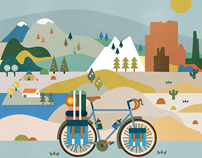 The Original Bicycle Touring Board Game