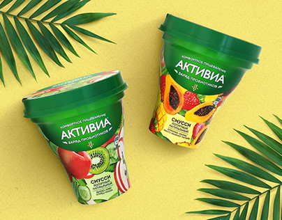 Activia Smoothie package design