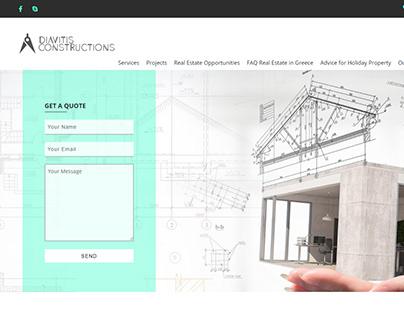 Diavitis Constructions Web design