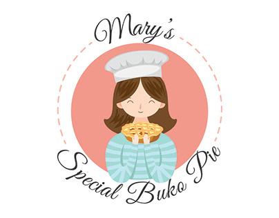 Mary's Special Buko Pie Logo