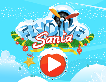 Game art: FlyDive Santa (iOS)