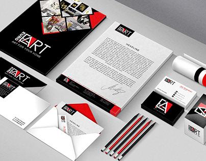 EURO ART Logo and visual identity