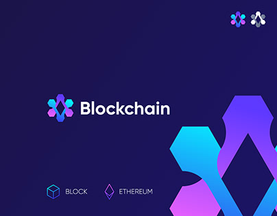 Blockchain Logo with ethereum