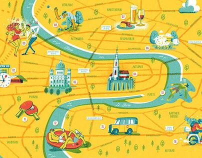 Illustrated Bern City Map