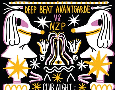 Posters for Deep Beat Avantgarde Prague