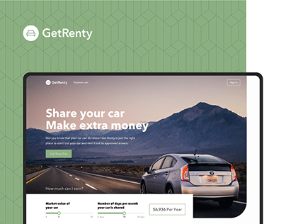 GetRenty - Car sharing and rental cars in Dubai