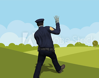 Zombie Cop - 3D Character in Adobe Photoshop