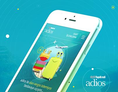 Yapıkredi Adios Mobile Desing