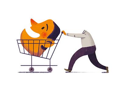 Ich kaufe, also bin ich? / leaflet design+illustration