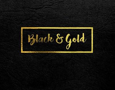 Black Gold Text Design by Sarmad Gardezi