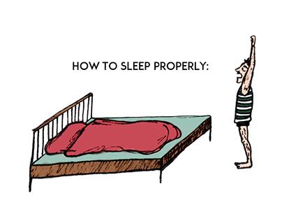 How to sleep properly