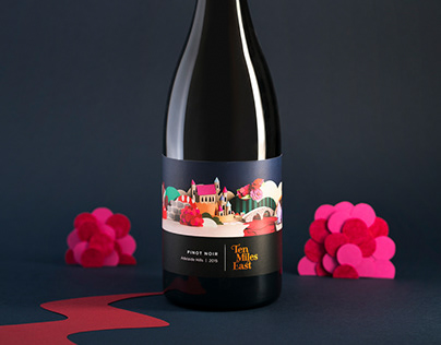 Ten Miles East - Wine Label Illustrations